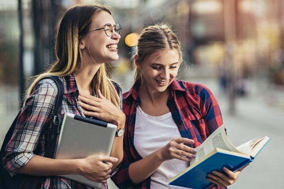 Student Girls Smiling